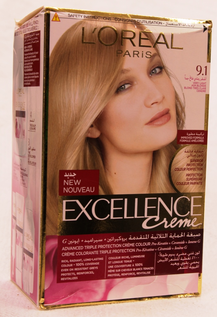 Loreal Excellence Hair Color Cream 9.1 172ml