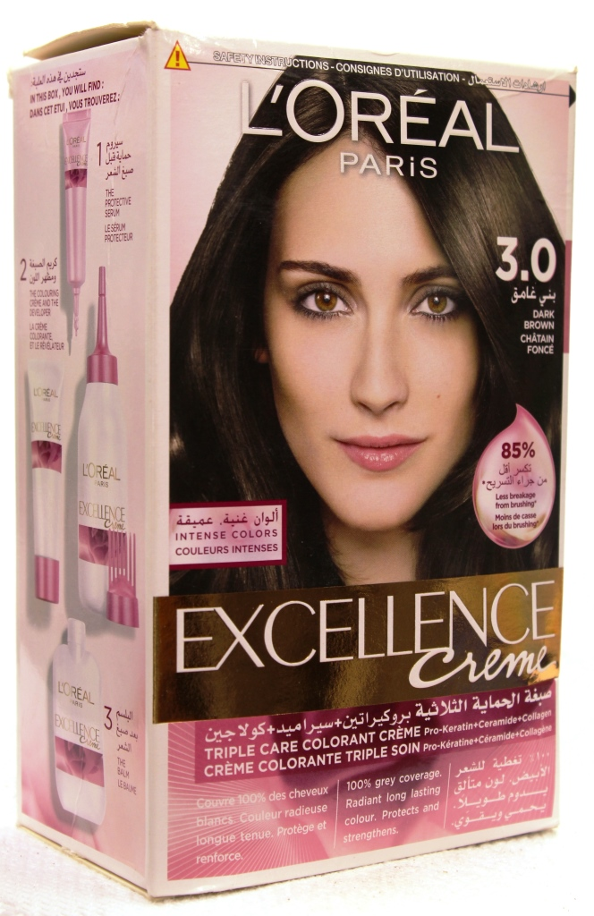 Loreal Excellence Creme Hair Color 3.0 172ml