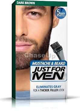 Just For Men Black Beard Hair Color Dark Brown 60ml