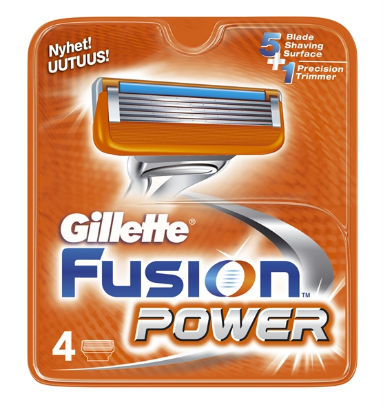 Gillette Fusion Power Cartridges 4pcs (Atco)