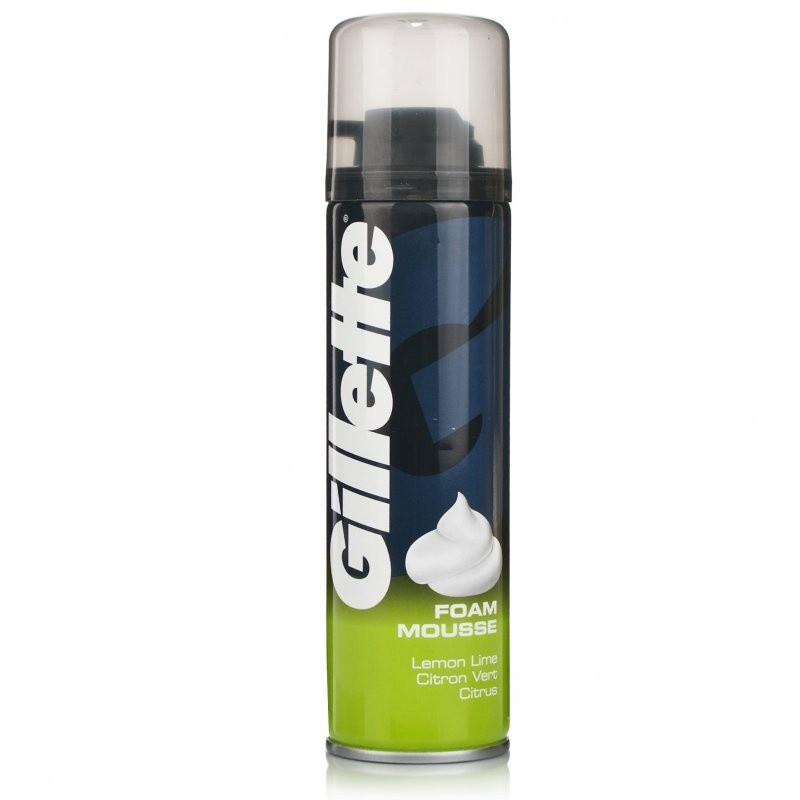 Gillette Lemon Lime Shaving Foam 200ml (Atco)