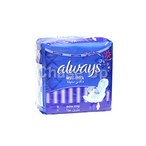 Always Maxi Thick Night Sanitary Pads XLong 8pcs