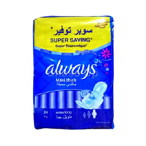 Always Maxi Thick Sanitary Pads XLong 24pcs