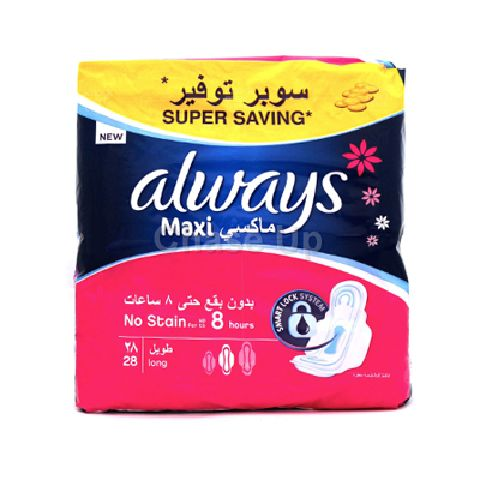 Always Maxi Thick Sanitary Pads Long 28pcs