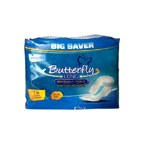Butterfly Long Ultra Napkin XXLarge 16pcs