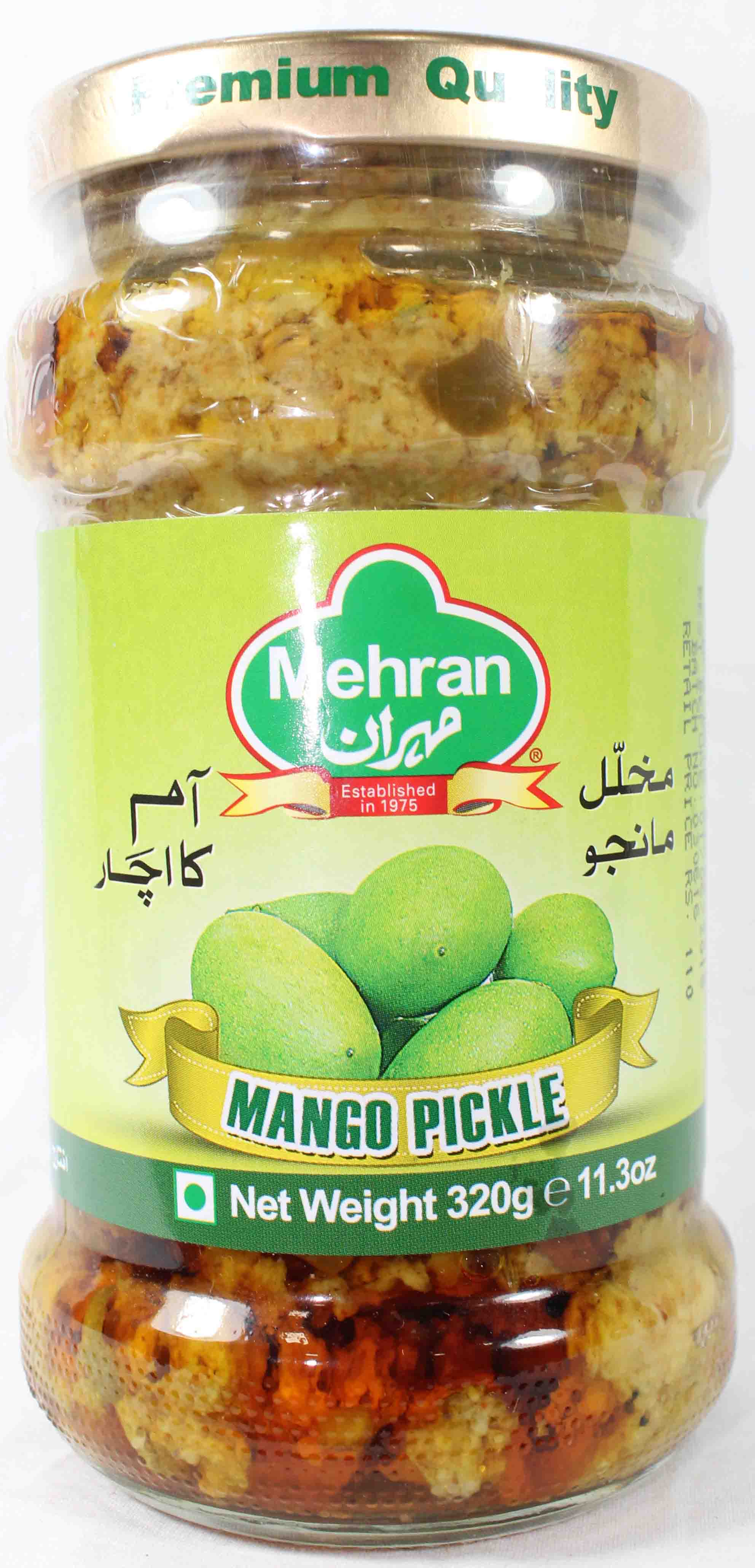 Mehran Mango Pickle Bottle 320gm