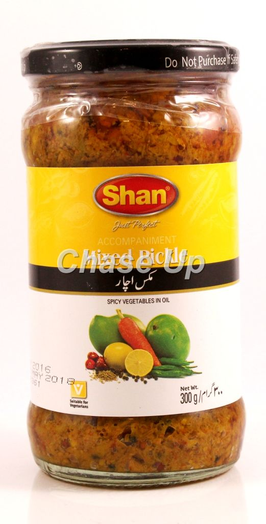 Shan Mixed Pickle Bottle 320gm