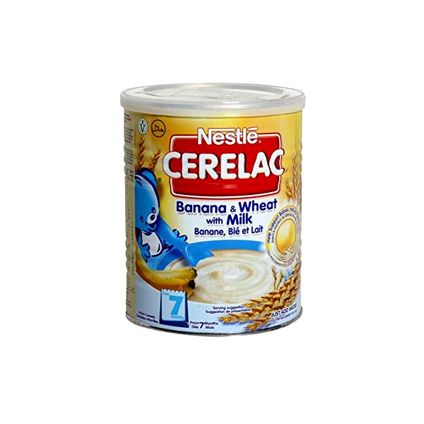 Nestle Cerelac Wheat & Banana Baby Food Tin 400gm