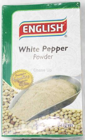 English White Pepper Spices 50gm