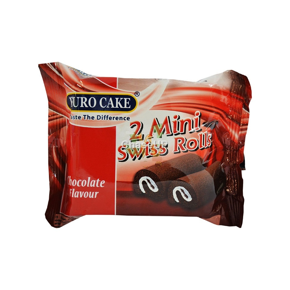 Euro Cake Twin Mini Chocolate Swiss Roll