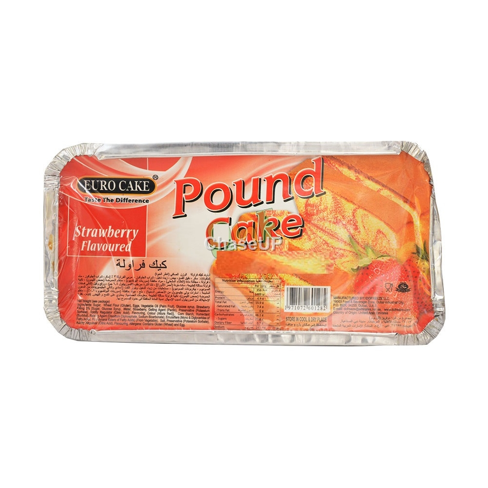Euro Cake Pound Strawberry Flavour Cake 325gm