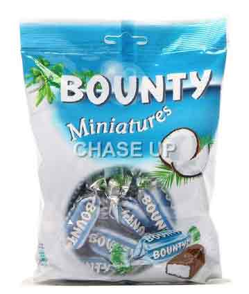 Bounty Miniatures Chocolate Pouch 150gm