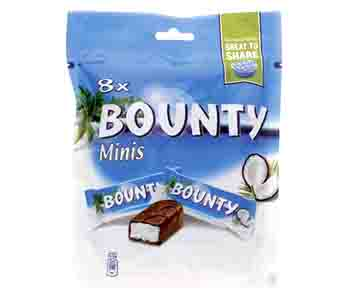 Bounty Minis Chocolate Pouch 227gm