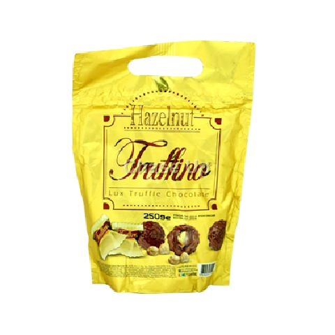 Truffino Milk Chocolate With Hazelnut Pouch 250gm