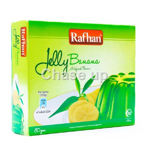 Rafhan Banana Jelly Mix 80gm