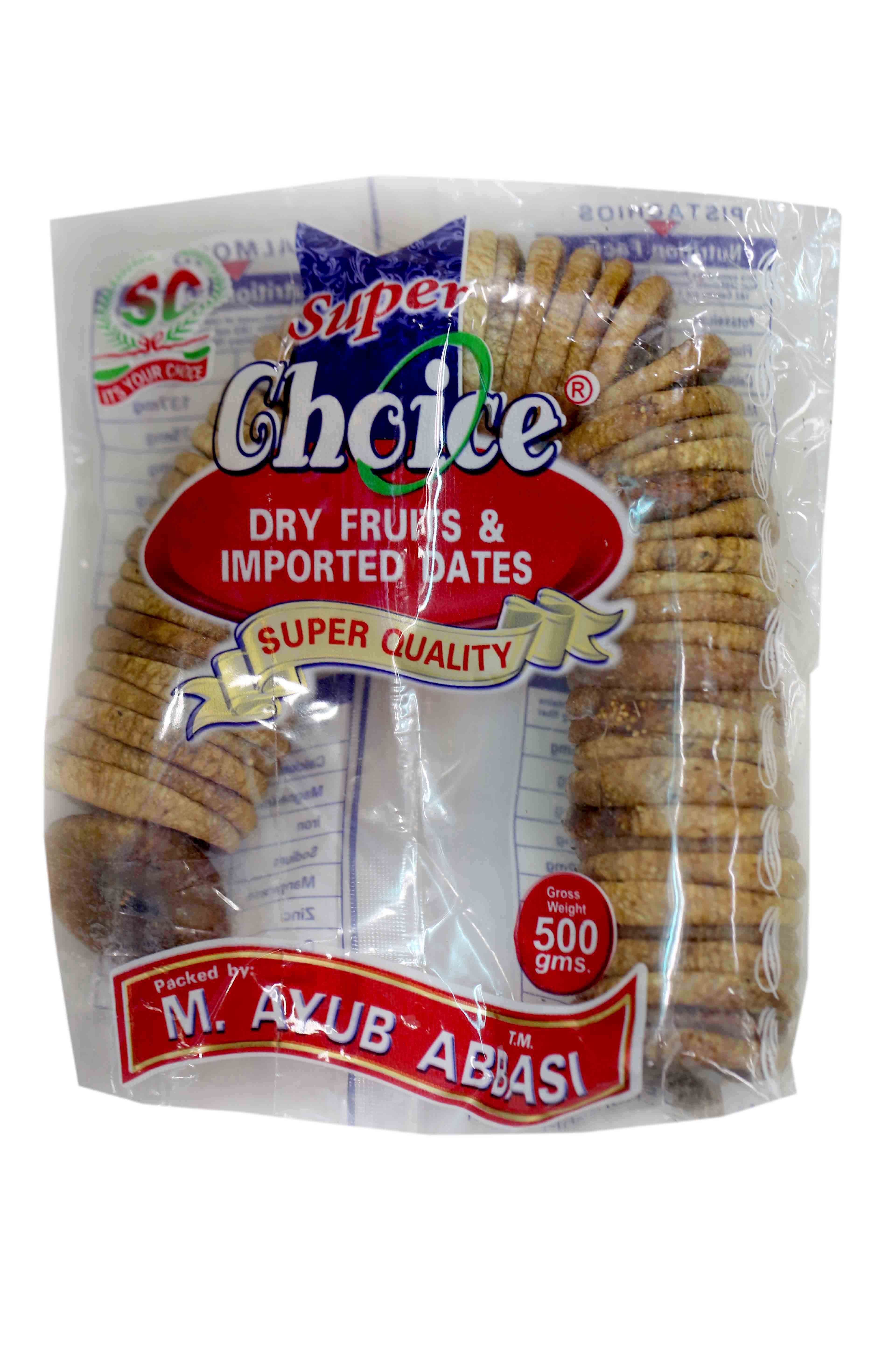 Super Choice Injeer Pouch 500gm