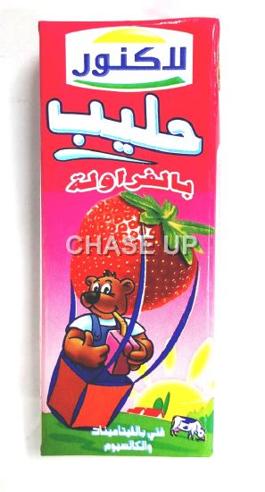 Lacnor Strawberry Flavored Milk Tetra Pack 180ml