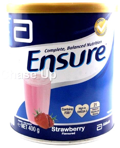 Ensure Strawberry Food Supplement Tin 400gm