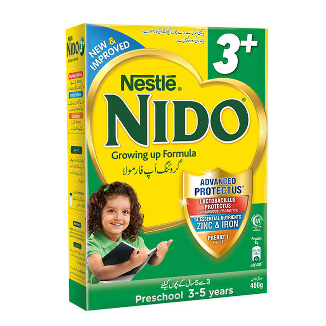 Nestle Nido 3+ Baby Milk Powder Box 400gm