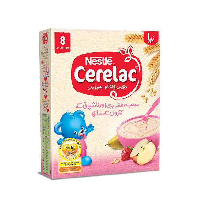 Nestle Cerelac Apple Strawberry & Peach Baby Food 175gm