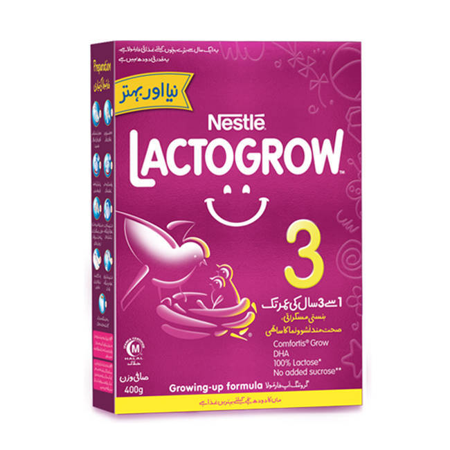 Nestle Lactogrow 3 Baby Milk Powder Box 400gm