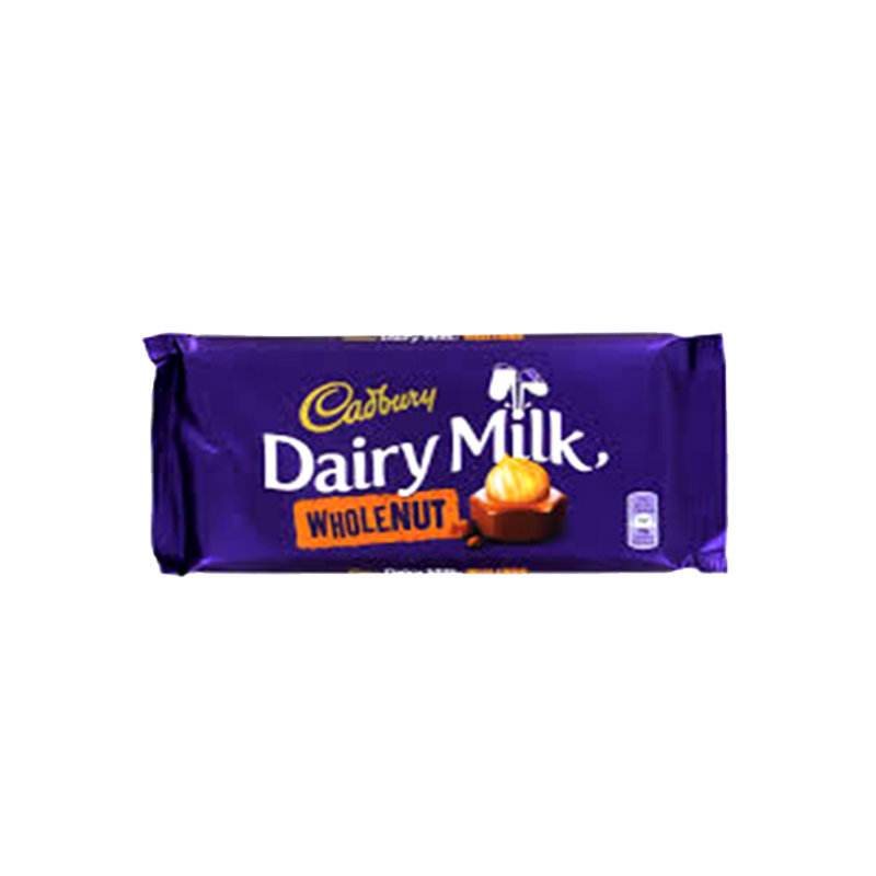 Cadbury Dairy Milk Whole Nut Chocolate 230gm Imp