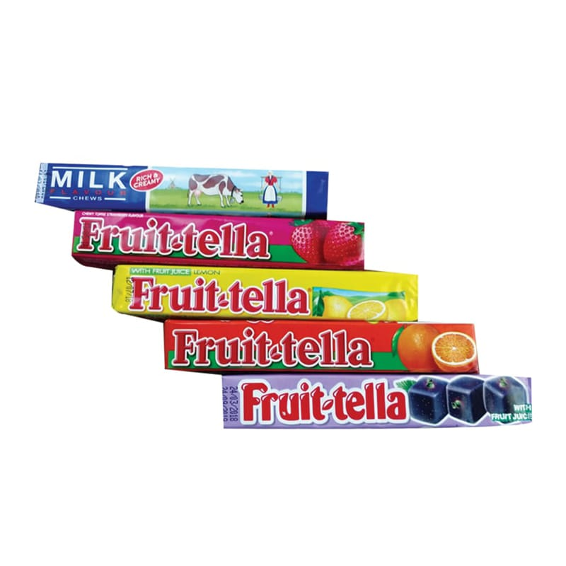 Fruit-tella Chewy Candy Assorted Pack 36gm 4+1pcs