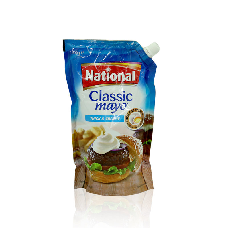 National Classic Mayonnaise Pouch 1ltr