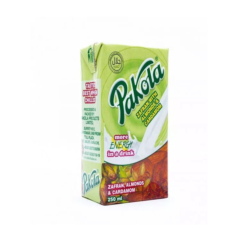 Pakola Zafran Almond & Cardamom Flavored Milk 250ml