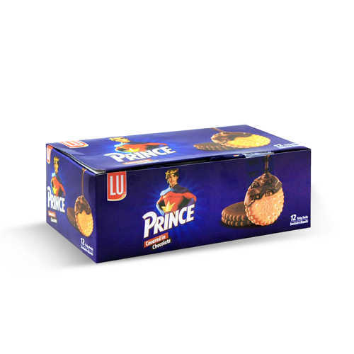 LU Prince Covered In Chocolate Biscuit T/P Box
