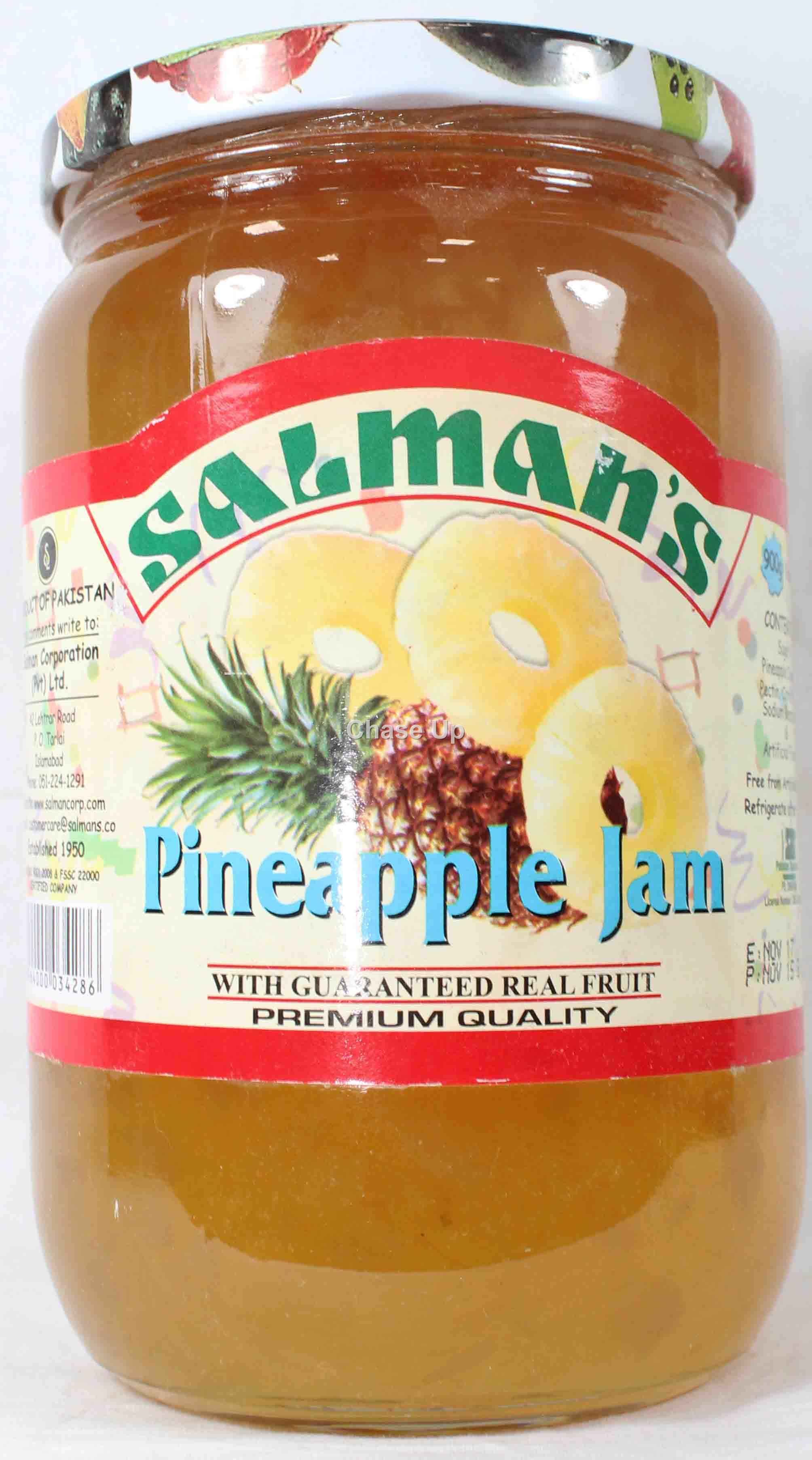 Salmans Pineapple Jam 900gm