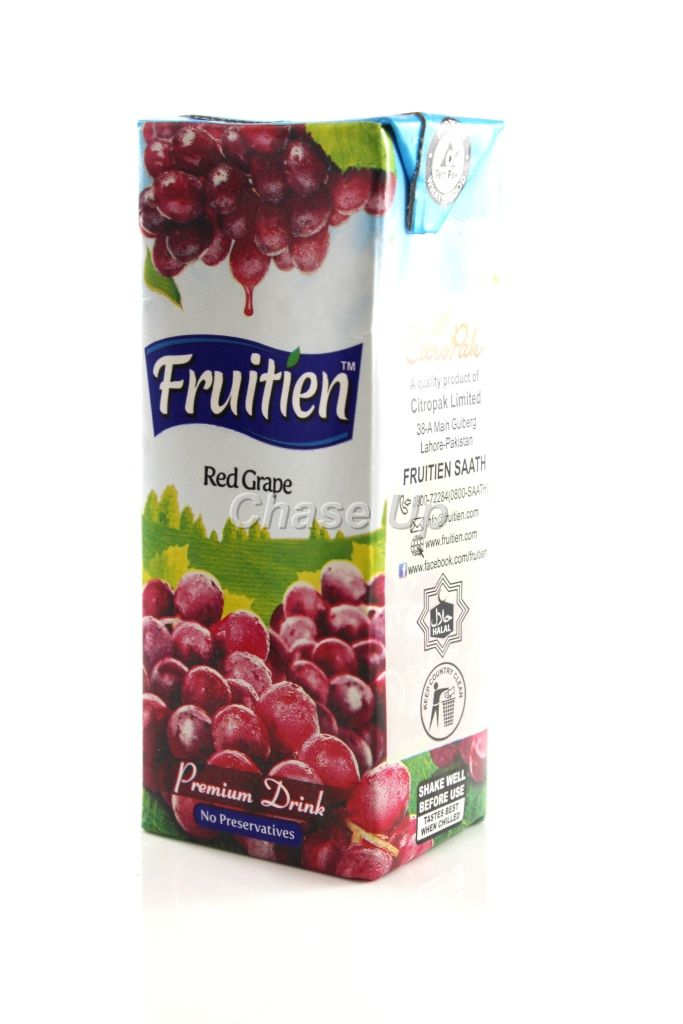 Fruitien Red Grape Nectar Juice Tetra Pack 200ml