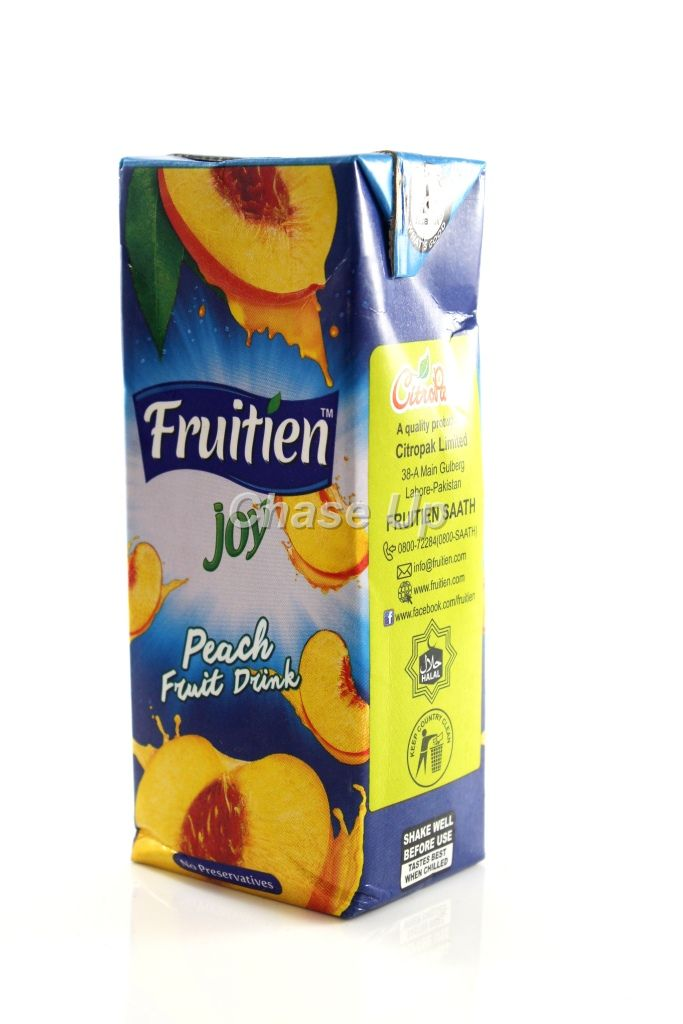 Fruitien Joy Peach Drink Juice Tetra Pack 200ml