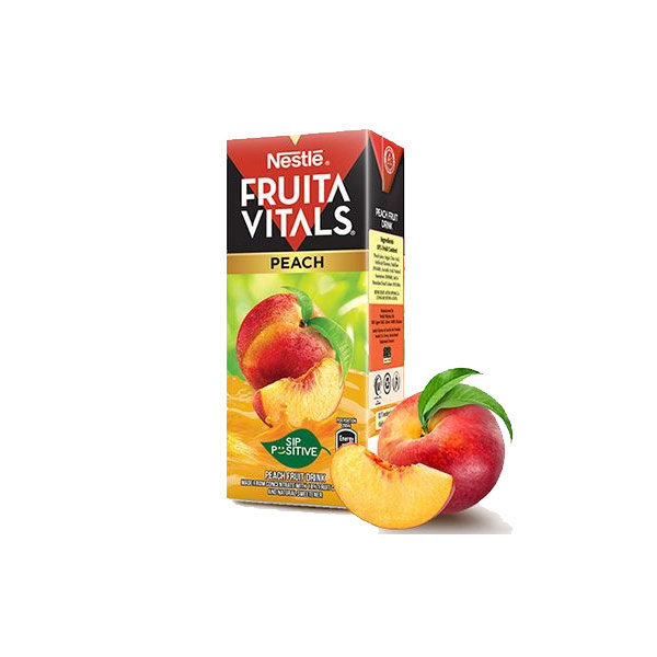 Nestle Fruita Vital Peach Juice Tetra Pack 200ml