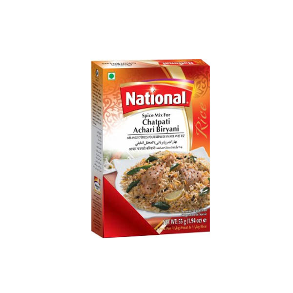 National Chatpati Achri Biryani Masala 55gm