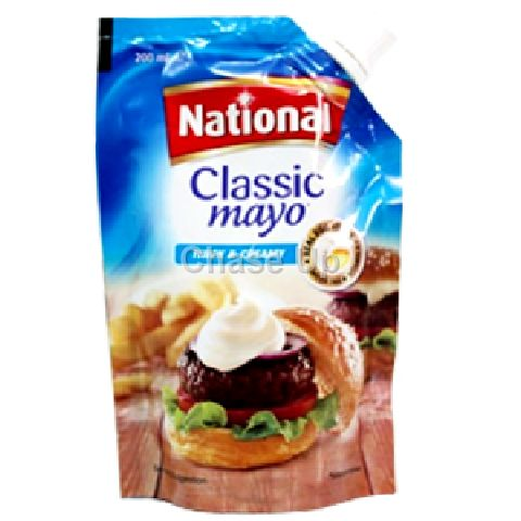 National Classic Mayonnaise Pouch 200ml