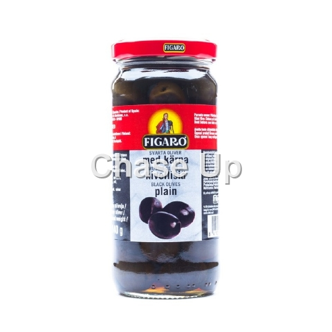 Figaro Plain Black Olives 200gm