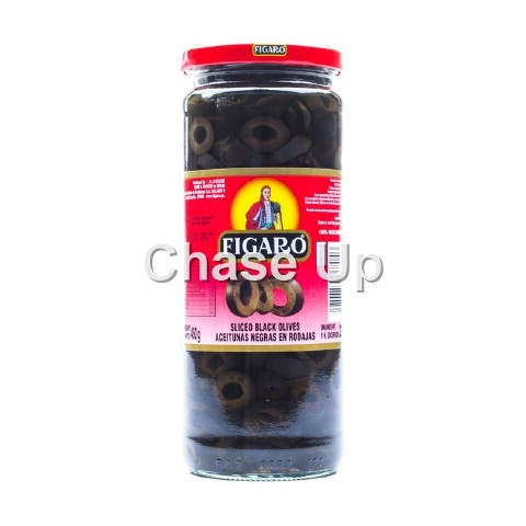 Figaro Sliced Black Olives 480gm