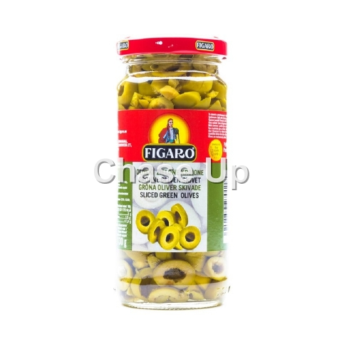 Figaro Sliced Green Olives 480gm