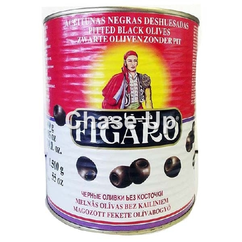Figaro Sliced Black Olives Tin 3kg