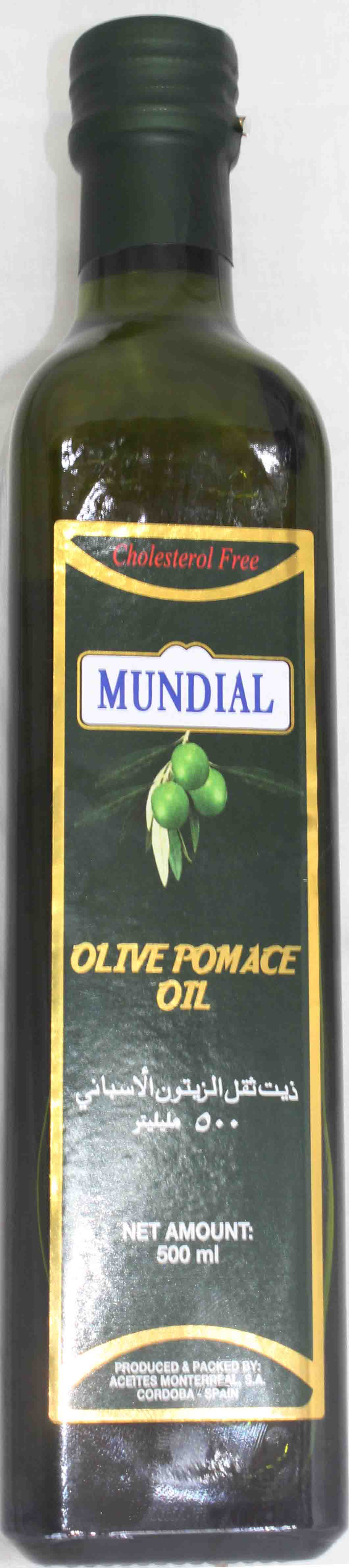 Mundial Extra Light Pomace Olive Oil Bottle 1ltr