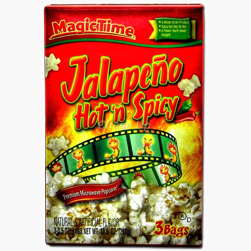 Magic Time Jalapeno Hot N Spicy Popcorn 242gm