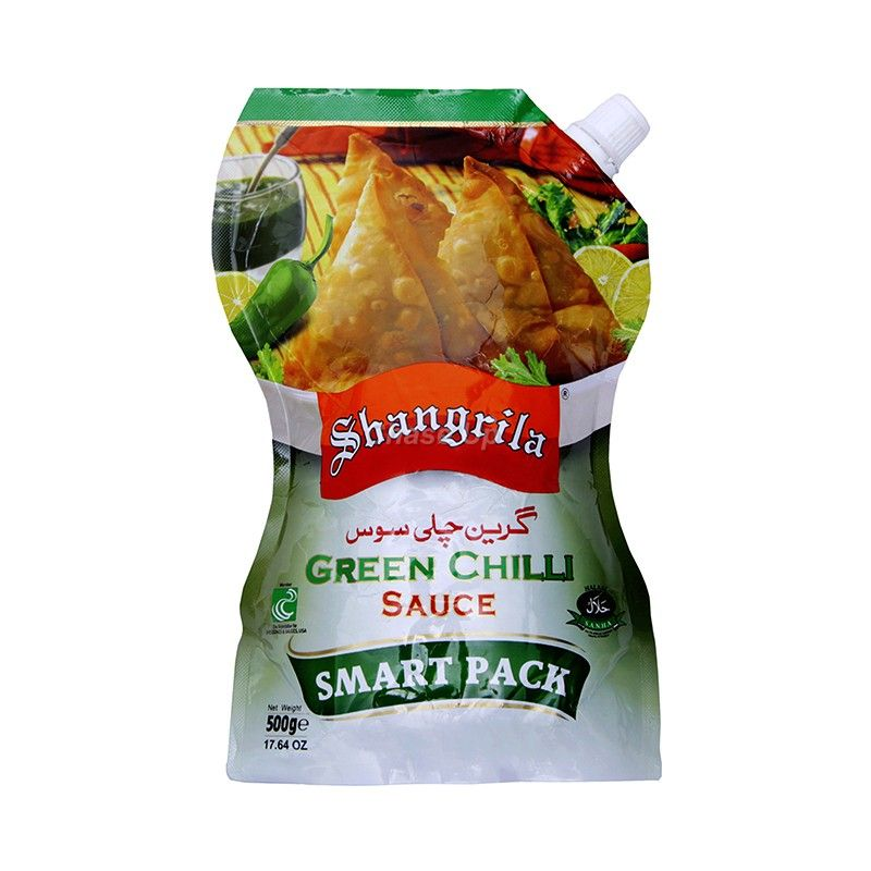 Shangrila Green Chilli Sauce Pouch 500gm