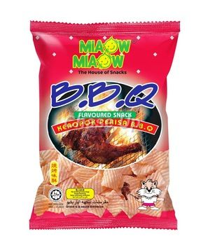Miaow Miaow BBQ Snacks 60gm Imp