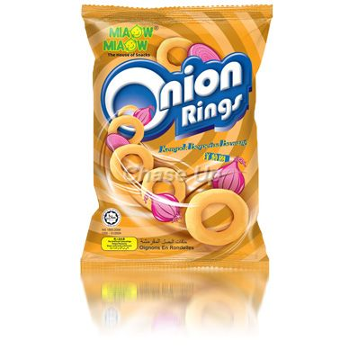 Miaow Miaow Onion Rings Snacks 60gm Imp