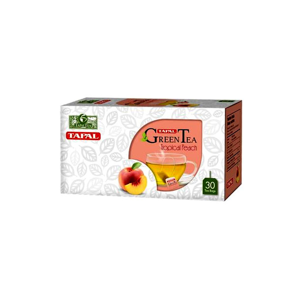 Tapal Tropical Peach Green Tea T/B 45gm 30pcs