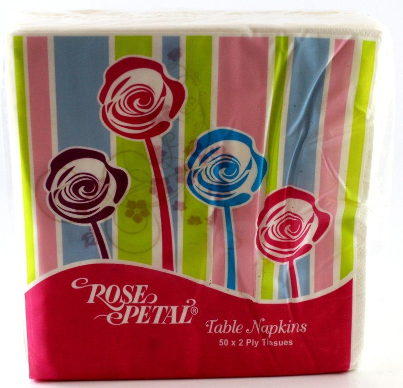Rose Petal White Table Napkin 50*2Ply