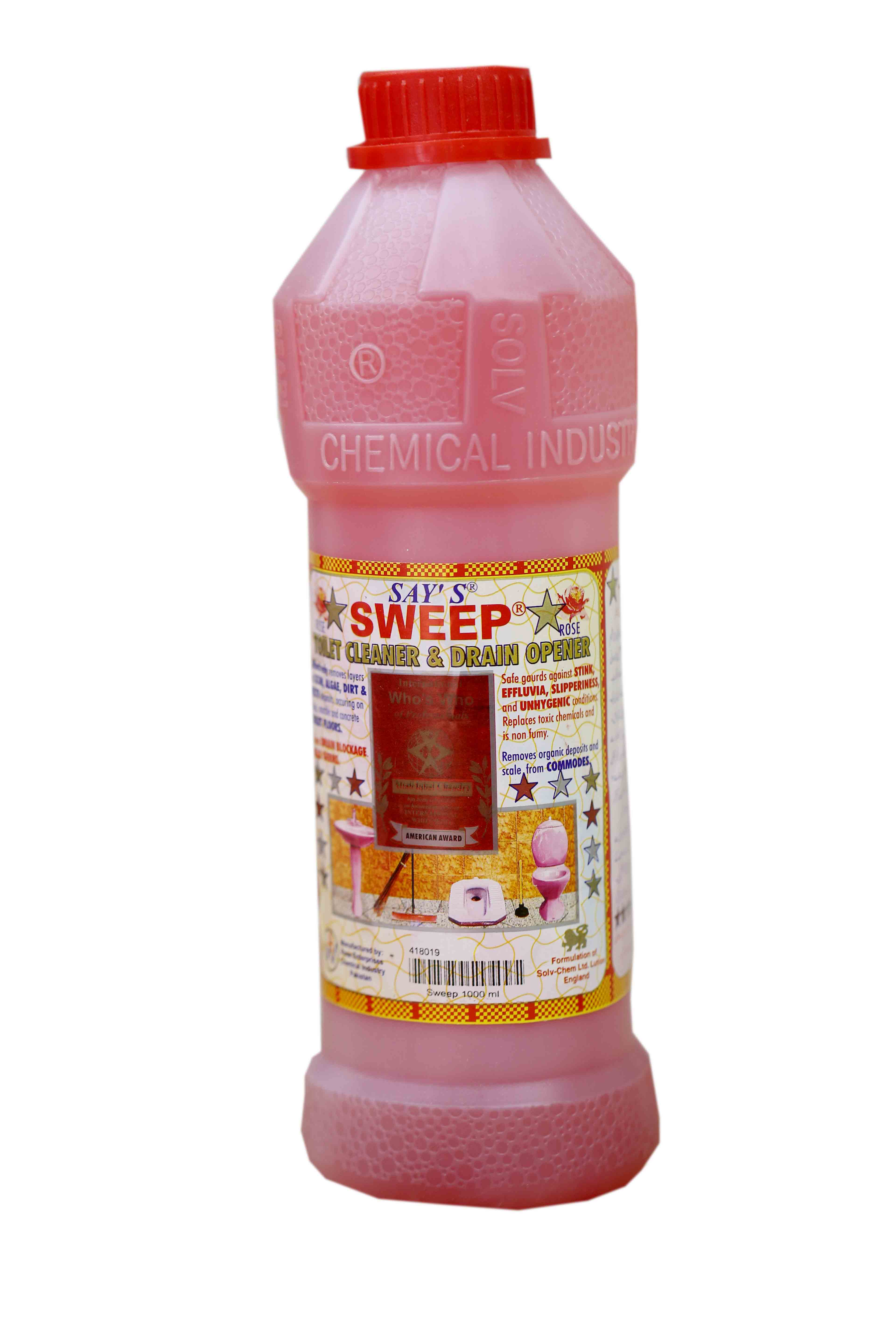 Sweep Drain Opener Toilet Cleaner 1ltr