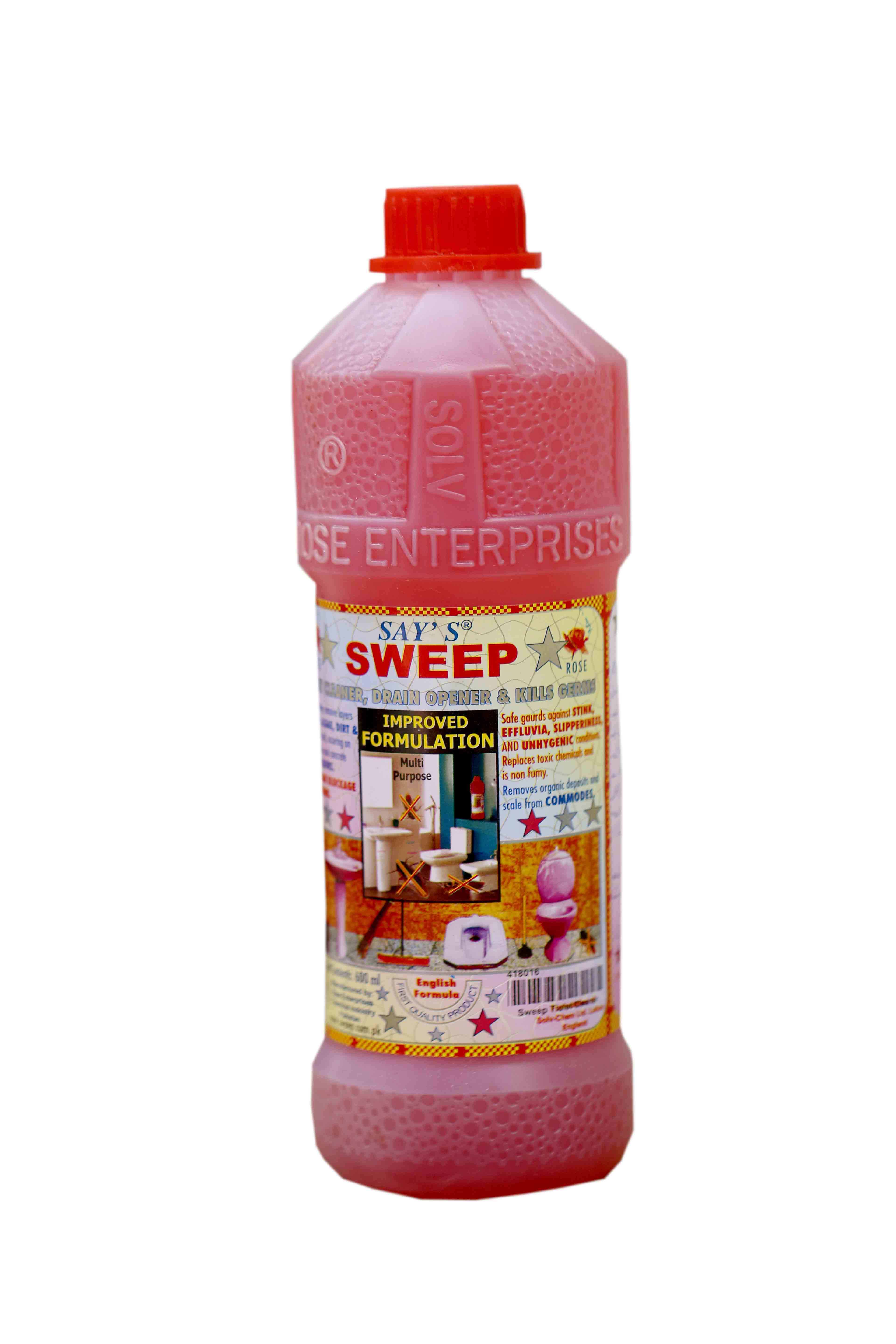 Sweep Drain Opener Toilet Cleaner 600ml