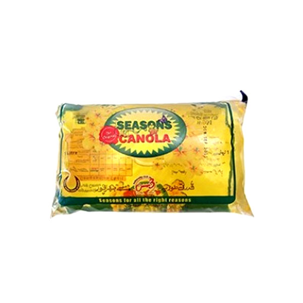Seasons Canola Cooking Oil Pouch 1ltr